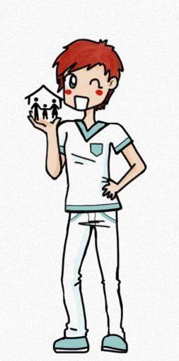 L'immagine simpatica di un infermiere di famiglia e di comunità